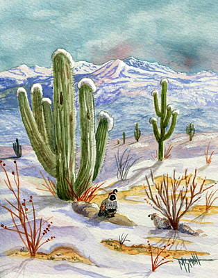 Painting - Sunrise Surprise In The Desert by Marilyn Smith