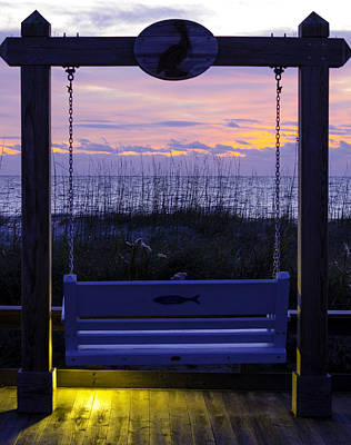 Quietude Painting - Sunrise Swing  by Mary Ward