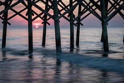 Photograph - Sunrise Through Folly Pier by L A Patterson