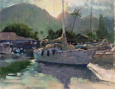 Painting - Sunrise Through Kaua'ula by Patrick Saunders
