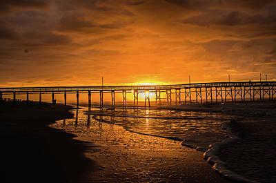 Photograph - Sunrise Through The Pier by Gerald Monaco