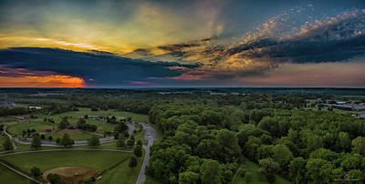 Sunrise Thru The Clouds Art Print