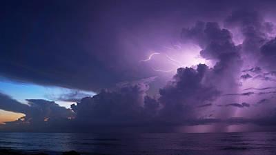 Photograph - Sunrise Thunderstorm by Lawrence S Richardson Jr