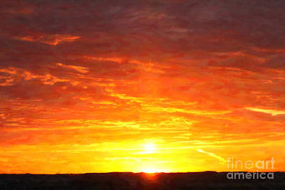Digital Art - Sunrise Thursday by Donna Munro