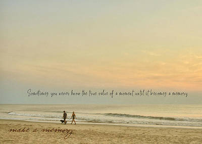 Photograph - Sunrise Together Quote by Jamart Photography