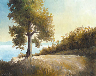 Painting - Sunrise Tree Plein Air by Douglas Castleman
