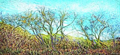 Digital Art - Sunrise Trees Awakening by Joel Bruce Wallach