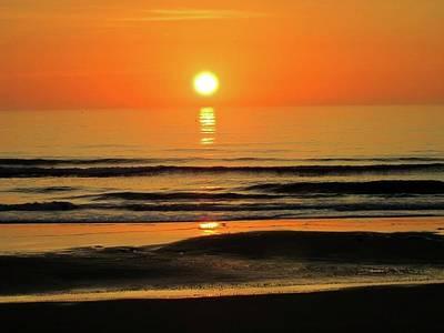 Jacksonville Beach Photograph - Sunrise Triple Sun by Deb Campbell