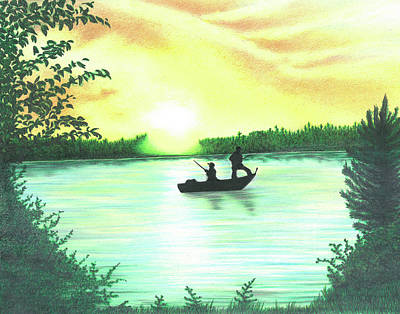 Drawing - Sunrise by Troy Levesque