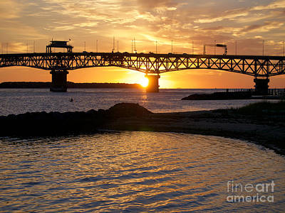 Sunrise Under Coleman Bridge Art Print