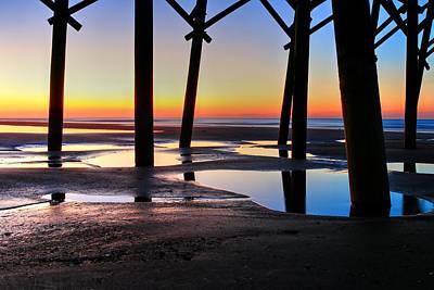 Photograph - Sunrise Under Folly Pier by Carol Montoya