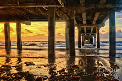 Photograph - Sunrise Under The Pier by Roxie Crouch