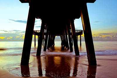 Photograph - Sunrise Under Tybee's Pier by Renee Sullivan