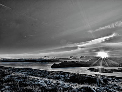 Clouds Royalty Free Images - Sunrise Valentia island BW #f2 Royalty-Free Image by Leif Sohlman
