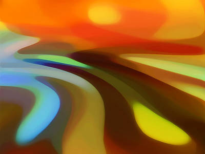 Abstract Pattern Painting - Sunrise Valley by Amy Vangsgard