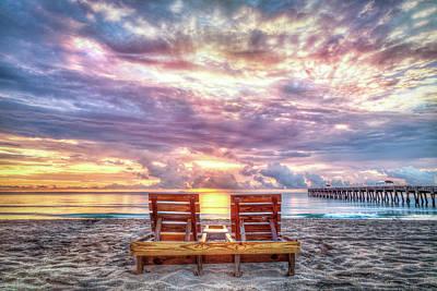 Sunrise View Print by Debra and Dave Vanderlaan