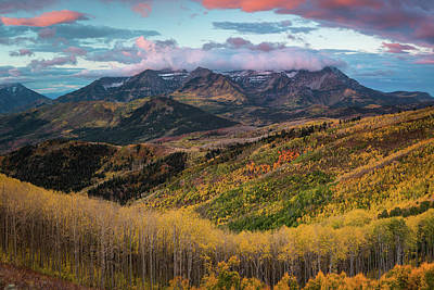 Sunrise View Of Mount Timpanogos Art Print by James Udall