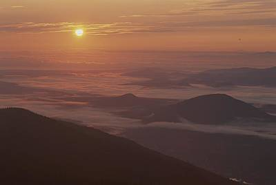 Cosmic And Atmospheric Phenomena Photograph - Sunrise View Of The Adirondacks by Michael Melford