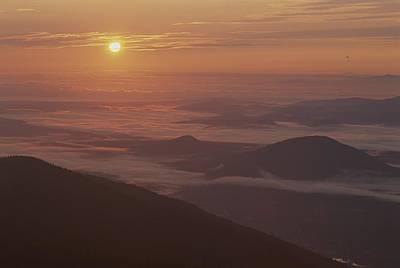 Sunrise View Of The Adirondacks Print by Michael Melford