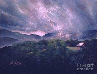 Painting - Sunrise View Off Mountain Road Stowe Vermont by Felipe Adan Lerma