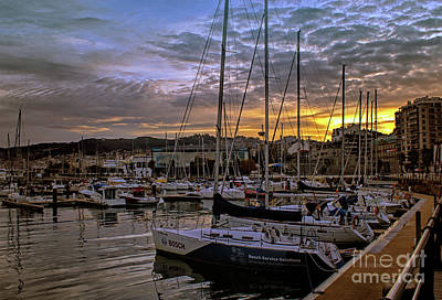 Photograph - Sunrise Vigo Harbour Galacia Spain by Lynn Bolt
