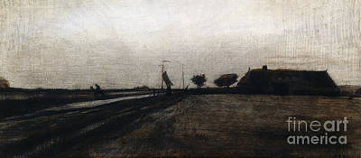 Rural Scenes Drawing - Sunrise by Vincent Van Gogh