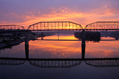 Sunrise Walnut Street Bridge 2 Art Print by Tom and Pat Cory