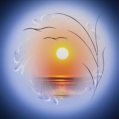 Artdeco Painting - Sunrise by Walter Zettl