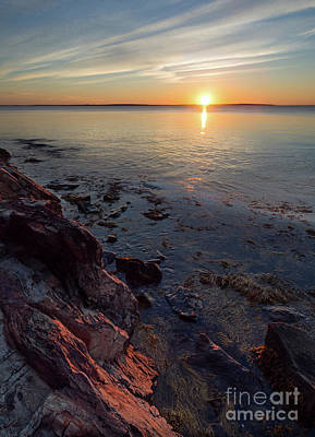 Photograph - Sunrise, West Penobscot Bay, Camden, Maine  -43869-43871 by John Bald