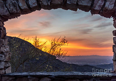 Photograph - Sunrise Window - Phoenix Arizona by Leo Bounds