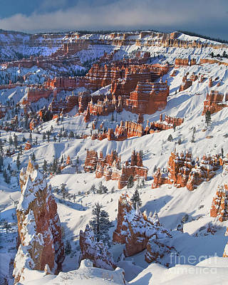 Photograph - Sunrise Winter Storm Bryce Canyon National Park Utah by Dave Welling
