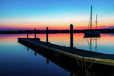 Photograph - Sunrise With Boat by Menachem Ganon