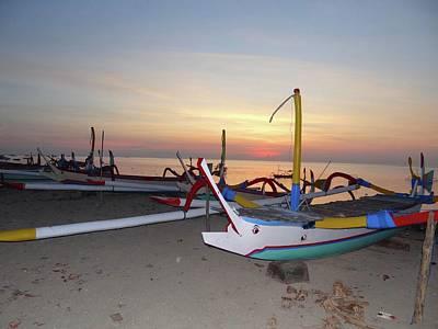 Exploramum Photograph - Sunrise With Boats by Exploramum Exploramum