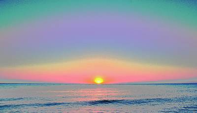 Sunrise With Digits Art Print by Cloe Couturier