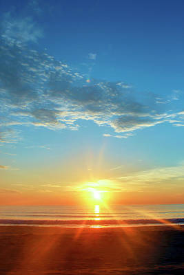 Sunrise With Flare Art Print by David Stasiak