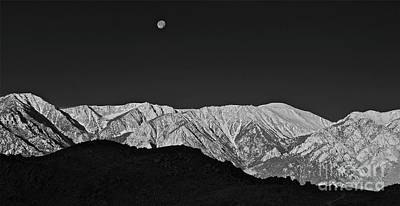 Sunrise With Setting Moon Sierra Nevada California Original by Gus McCrea