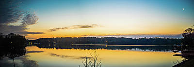 Photograph - sunriseon lake wylie near belmont NC by Alex Grichenko