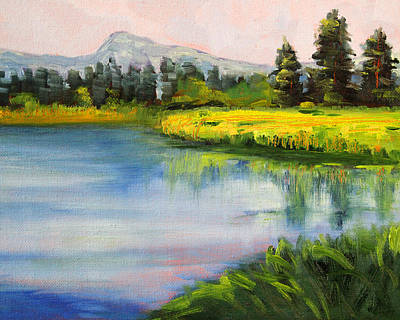 Sunriver Painting - Sunriver by Nancy Merkle