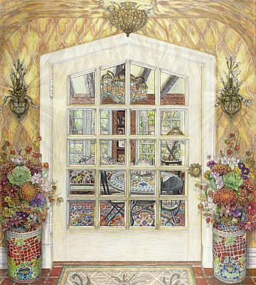 Sunroom Entrance Art Print by Bonnie Siracusa