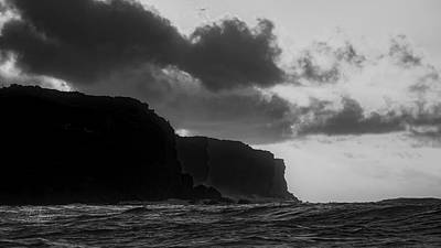 Photograph - Sunrse And Cliffs In Black And White by Jim Thompson