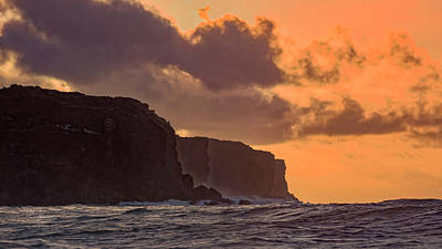 Photograph - Sunrse Ocean And Cliffs by Jim Thompson