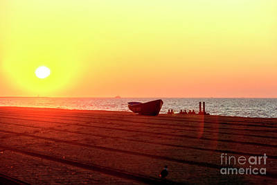 Photograph - Sun's Coming Up At Cape May by John Rizzuto