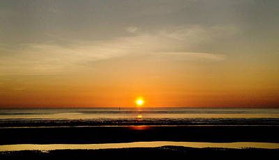 Photograph - Sun's Up At The Beach by David Cabana