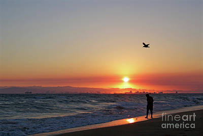 Photograph - Sunset Beach California by Afrodita Ellerman