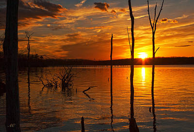 Photograph - sunset @ Reservoir by Angel Cher