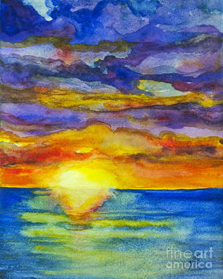 Painting - Sunset 1 by Suzette Kallen
