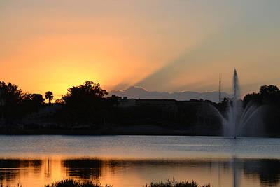 Photograph - Sunset 101716a by rd Erickson