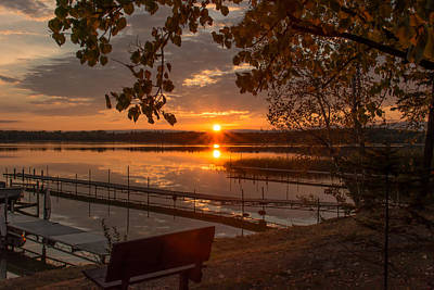 Photograph - Sunset 124 - Fall Serenity by Bear Paw Resort Photography