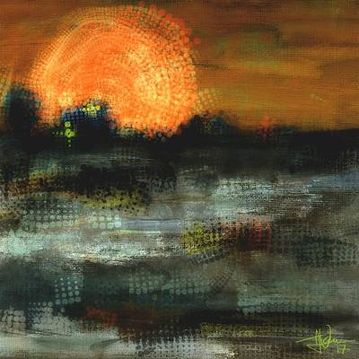 Digital Art - Sunset 15feb2018 by Jim Vance