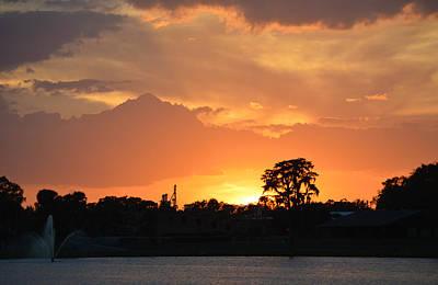 Photograph - Sunset 17 - Lake City Florida by rd Erickson